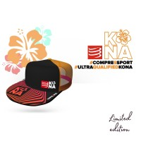 ★KONA SERIES★ COMPRESSPORT TRUCKER CAP - BLACK/ORANGE