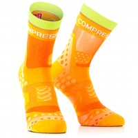 COMPRESSPORT PRO RACING SOCKS ULTRALIGHT RUN HIGH - ORANGE