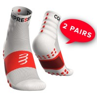 COMPRESSPORT TRAINING SOCKS-2 PACK - WHITE