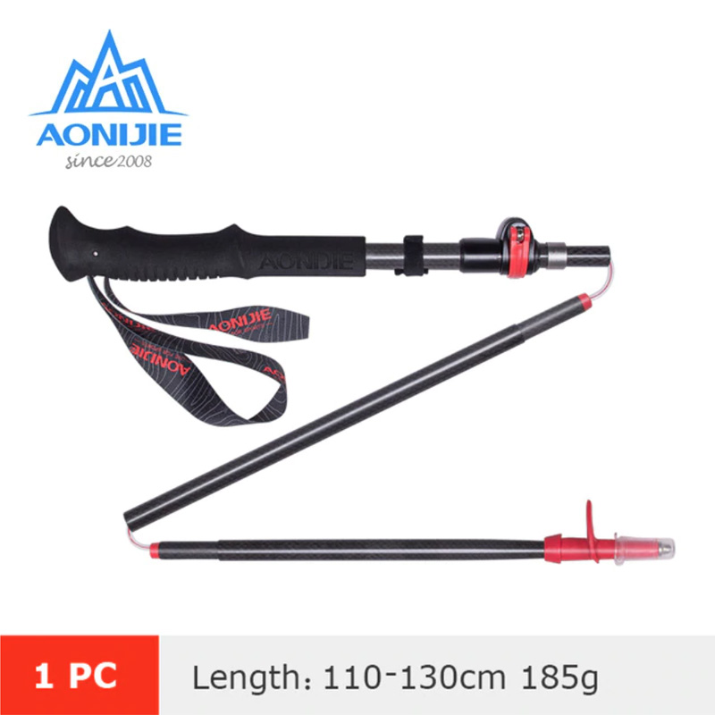 AONIJIE E4087 CARBON TREKKING POLE RED 110-130CM - SINGLE