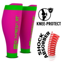 COMPRESSPORT R2V2 CALF SLEEVES - FLUO PINK (PAIR)