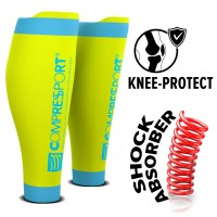 COMPRESSPORT R2V2 CALF SLEEVES - FLUO YELLOW (PAIR)