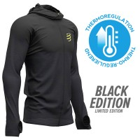 Compressport 3D Thermo Seamless Hoodie Zip - Black Edition