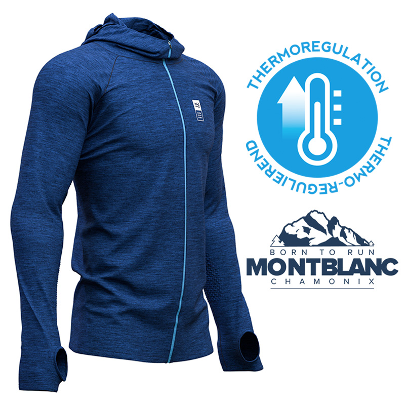 Compressport 3D Thermo Seamless Zip Hoodie - Mont Blanc Limited Edition