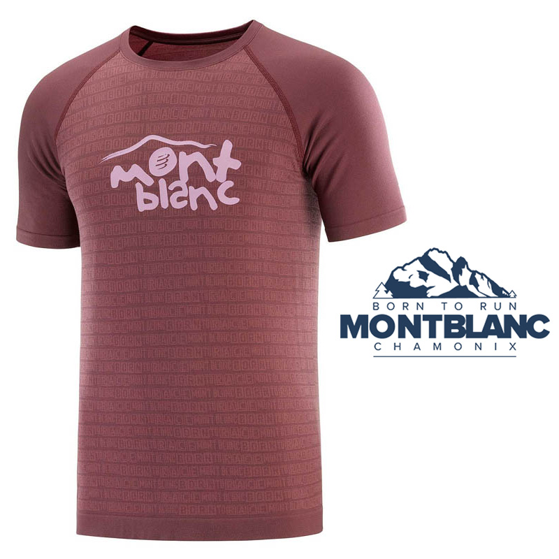 COMPRESSPORT TRAINING TSHIRT SS - MONT BLANC 2020
