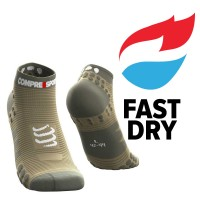 COMPRESSPORT PRO RACING SOCKS V3.0 RUN LOW DUSTY OLIVE