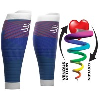 Compressport R2 Oxygen Calf Sleeves - Blue