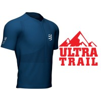 COMPRESSPORT TRAIL HALF-ZIP FITTED SS TOP BLUE