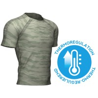 COMPRESSPORT TRAINING SS TSHIRT CAMO STRIPE SLATE GREEN