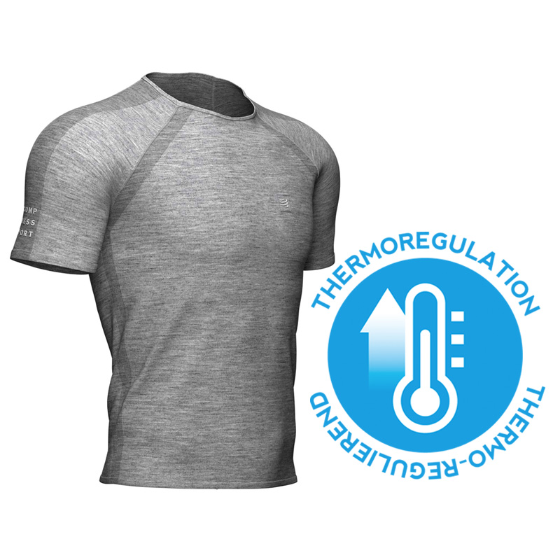 COMPRESSPORT TRAINING SS TSHIRT GREY MELANGE