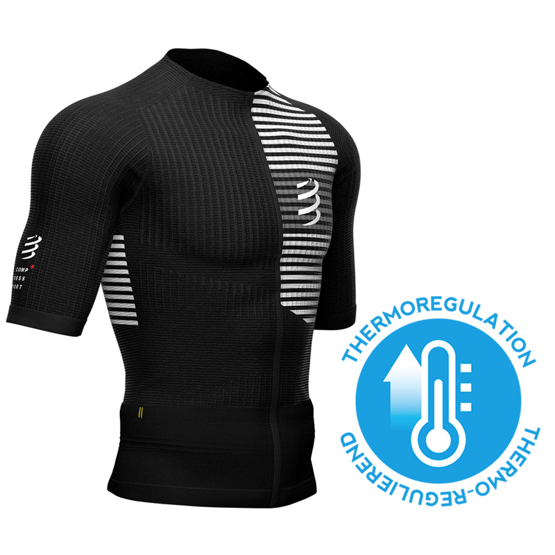 COMPRESSPORT TRI POSTURAL SS TOP BLACK