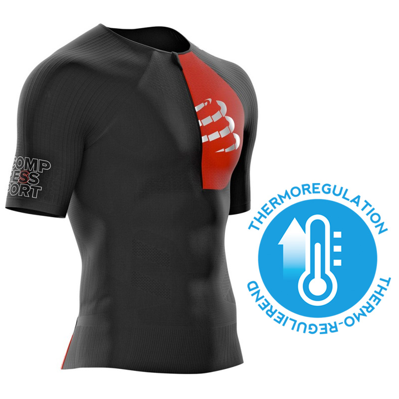 COMPRESSPORT UNISEX TRIATHLON POSTURAL AERO SS TOP - BLACK