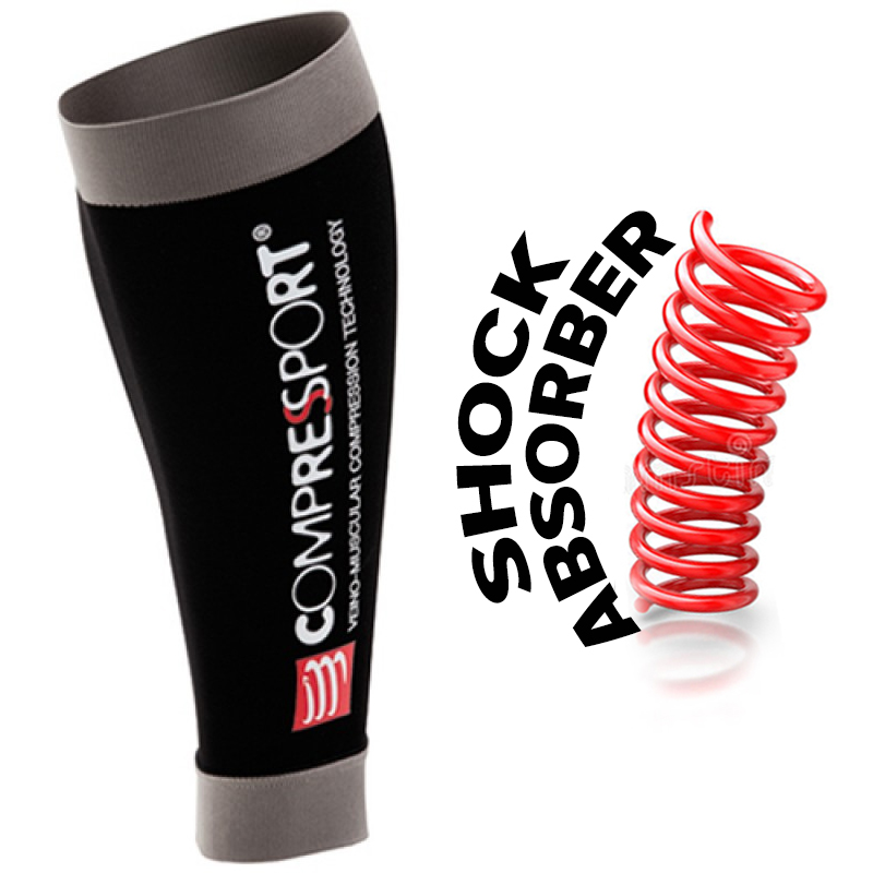 COMPRESSPORT R2 RACE & RECOVERY -BLACK (PAIR)