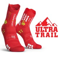 COMPRESSPORT PRO RACING SOCKS V3.0 TRAIL - RED/WHITE
