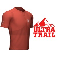 COMPRESSPORT TRAIL HALF-ZIP FITTED SS TOP RED CLAY
