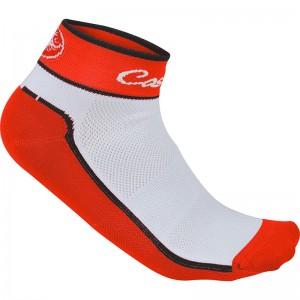 CASTELLI IMPALPABILE SOCKS - RED/WHITE