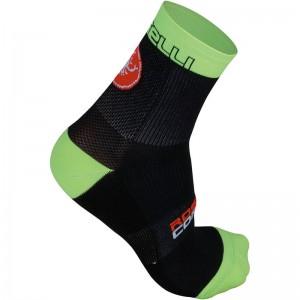 CASTELLI FREE X9 SOCKS - BLACK/GREEN