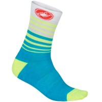CASTELLI RIGHINA WOMEN SOCKS 13 INCH - AQUA/FLURO
