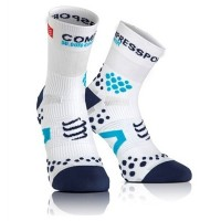 COMPRESSPORT PRO RACING SOCKS V2.1 RUN HIGH - White/Blue