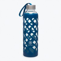 GAIAM SURE GRIP WATER BOTTLE (20OZ) - DENIM