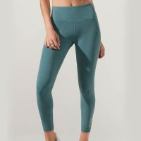 LORNA JANE KHLOE CORE ANKLE BITER TIGHT WASHED AMAZON GREEN 012004