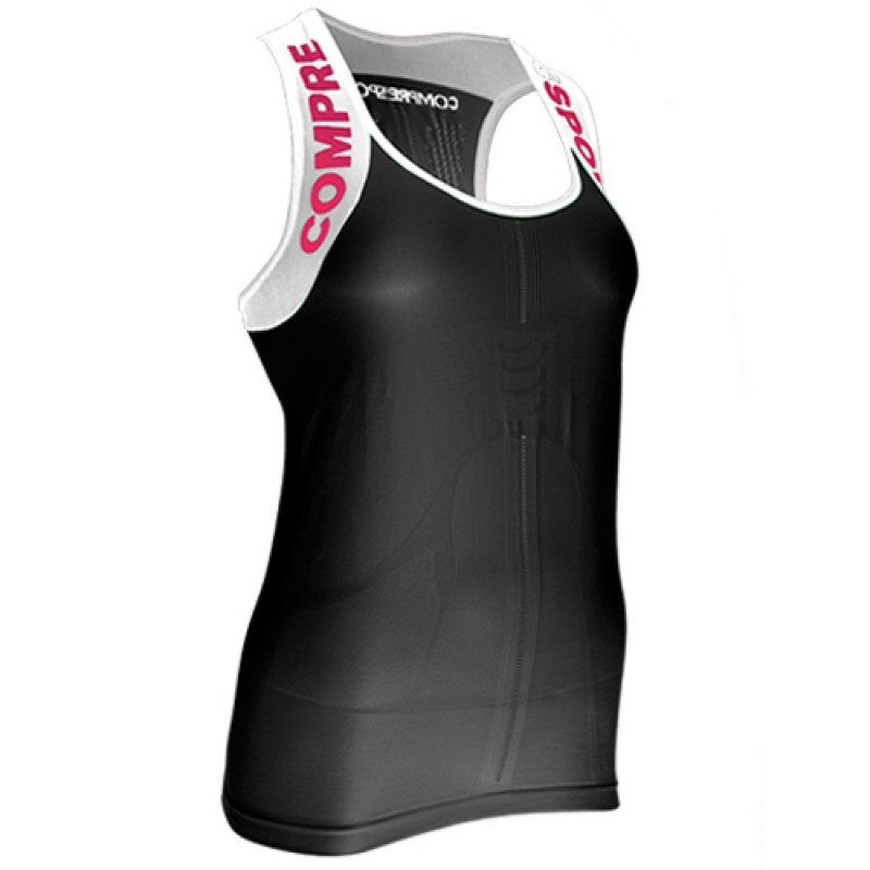COMPRESSPORT WOMEN TRAIL RUNNING SHIRT V2 ULTRA TANK TOP - Black