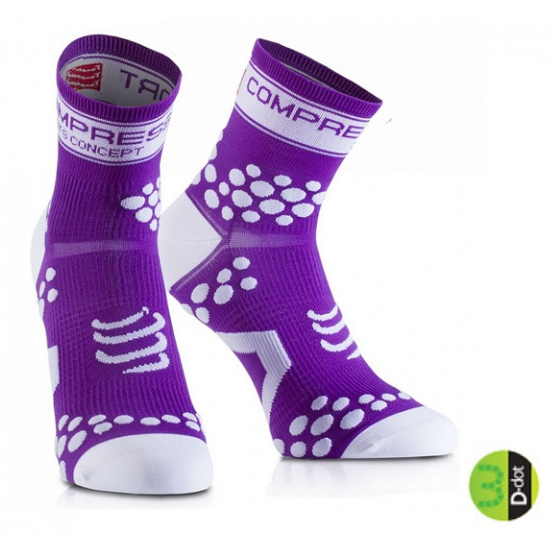 COMPRESSPORT FLUO PRO RACING SOCKS V2 - FLUO PURPLE