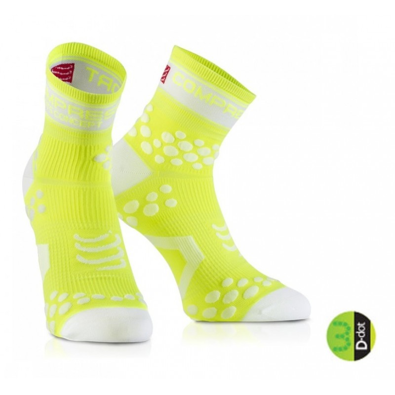 COMPRESSPORT FLUO PRO RACING SOCKS V2 - FLUO YELLOW