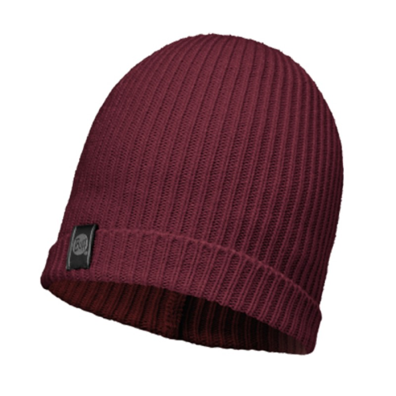 BUFF KNITTED & POLAR HAT - BASIC WINE