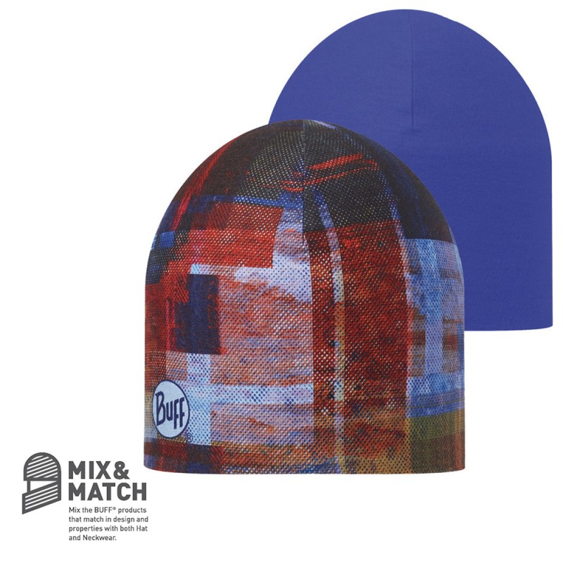 BUFF COOLMAX REVERSIBLE HAT - KAN MULTI/BLUE INK
