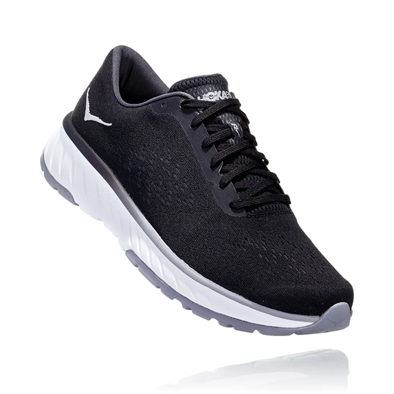 Hoka One One Men Cavu 2 Road Shoes - Black/White