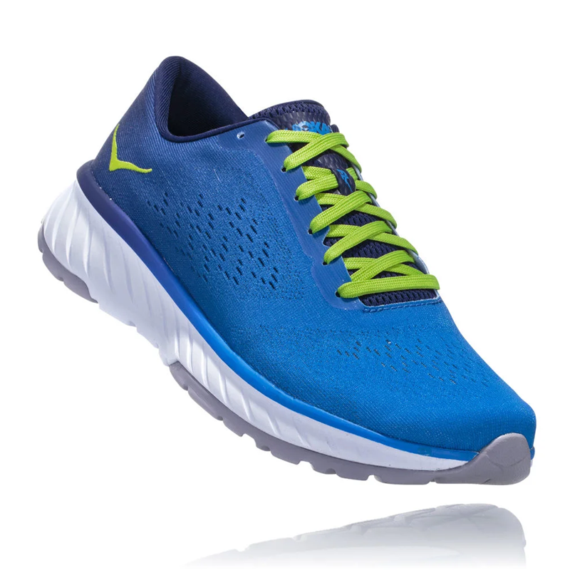 Hoka One One Men Cavu 2 Road Shoes - French Blue/Lime Green
