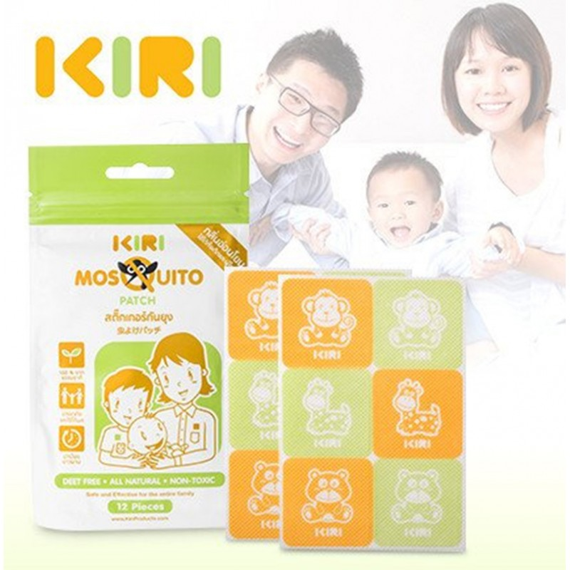 KIRI'S MOSQUITO REPELLENT - 12 PATCHES/PACK