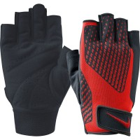 NIKE MEN CORE LOCK DRI-FIT TRAINING GLOVES 2.0 - BLACK/RED