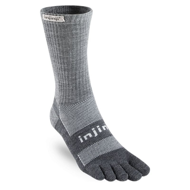 Injinji Outdoor Original Weight Crew Coolmax 5 Finger Socks - NuWool