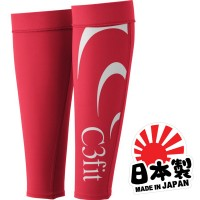 C3Fit Fusion Calf Sleeves - TRUE RED