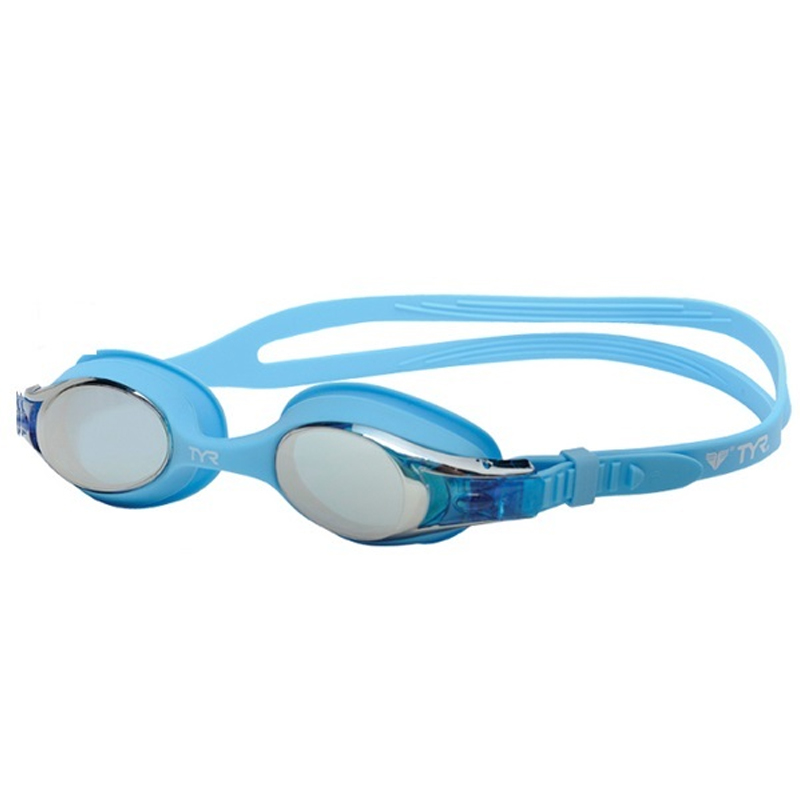 TYR KIDS' SWIMPLE MIRRORED GOGGLES - BLUE/BLUE