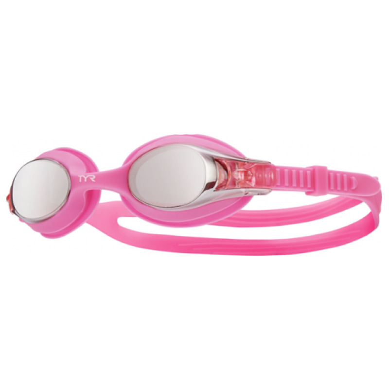 TYR KIDS' SWIMPLE MIRRORED GOGGLES - RASPBERRY PINK