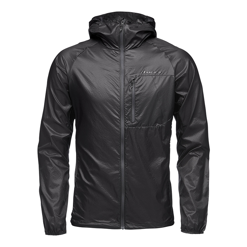 BLACK DIAMOND MEN DISTANCE WIND SHELL - BLACK