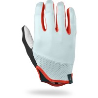 SPECIALIZED BODY GEOMETRY TRIDENT LONG FINGER GLOVES - BABY BLUE/ROCKET RED