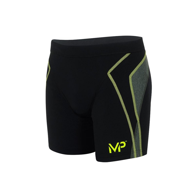 MICHAEL PHELPS MEN KEIJY TRUNK - BLACK/BRIGHT GREEN