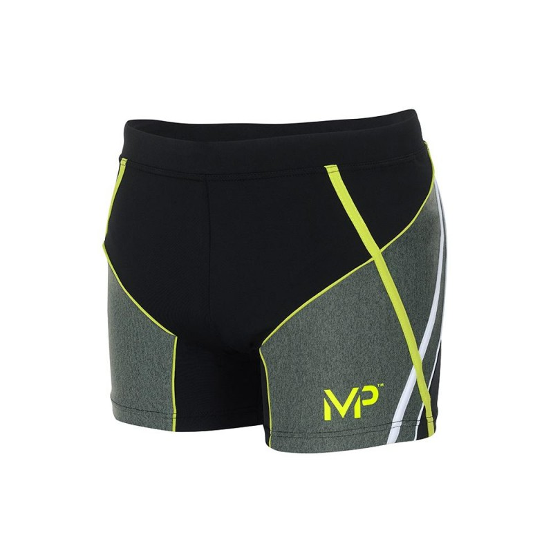 MICHAEL PHELPS MEN SWIFT TRUNK - BLACK/BRIGHT GREEN