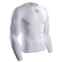 COMPRESSPORT 3D Thermo UltraLight LS Shirt - WHITE
