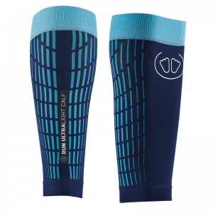 SIDAS ULTRALIGHT RUN CALF COMPRESSION AND RECOVERY SLEEVE - BLUE/TURQUOISE