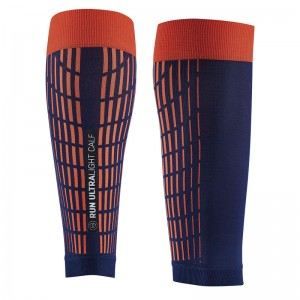 SIDAS ULTRALIGHT RUN CALF COMPRESSION AND RECOVERY SLEEVE - BLUE/ORANGE