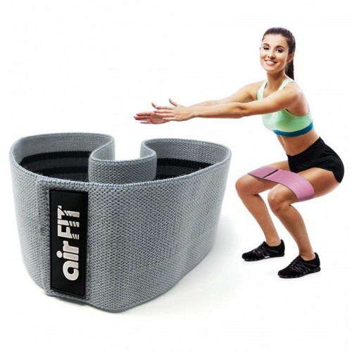 AIRFIT STRENGTH TRAINING RESISTANCE BAND HIPS & GLUTES BAND MEDIUM / HEAVY RESISTANCE - GREY