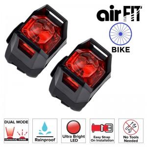 AIRFIT FRONT & REAR ULTRALIGHT BIKE LED LIGHT SET - RED (2 PCS)