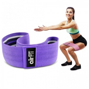 AIRFIT STRENGTH TRAINING RESISTANCE BAND HIPS & GLUTES BAND LIGHT / MEDIUM RESISTANCE - PURPLE