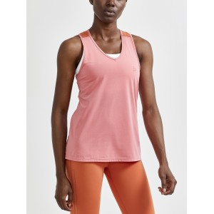 CRAFT WOMEN'S ADV CHARGE PERFORATED SINGLET - CORAL/ TERRACOT