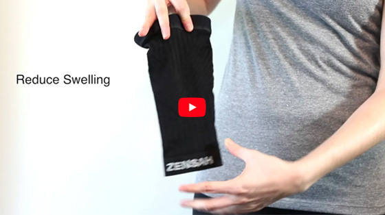 The Zensah Compression Knee Sleeve provides support to the knee while allowing a full range of motion. A no-slip silicone grip ensures the knee sleeve stays in place even during the toughest workouts